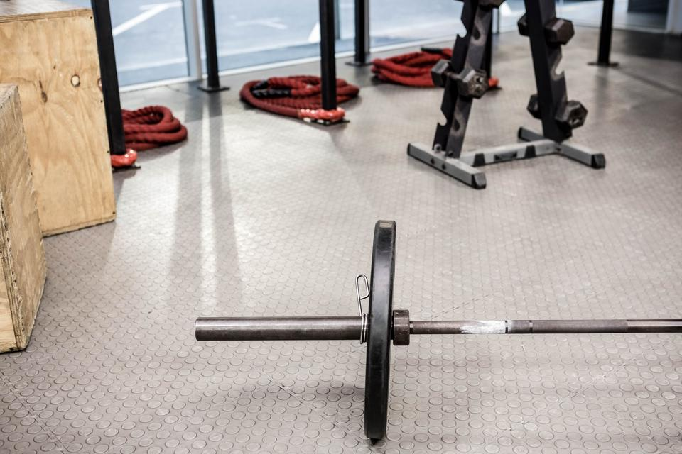 """""""Close up of a Barbell"""" stock image"""