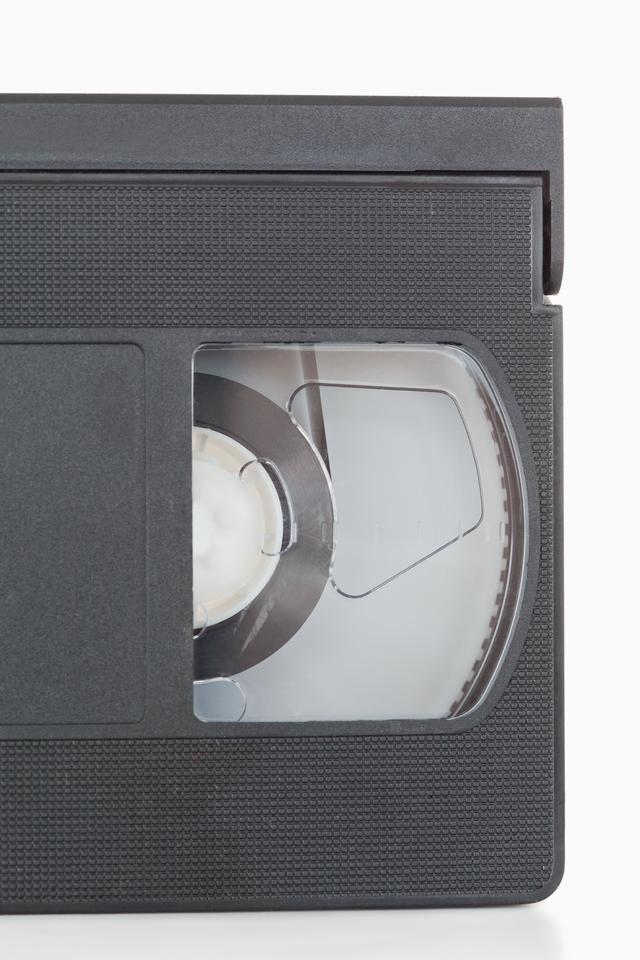 """Close up of a video tape"" stock image"
