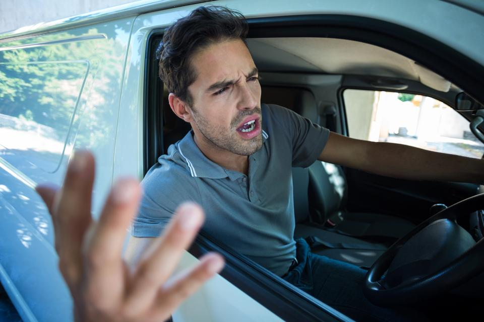 """""""An Angry man is gesturing with his hand"""" stock image"""