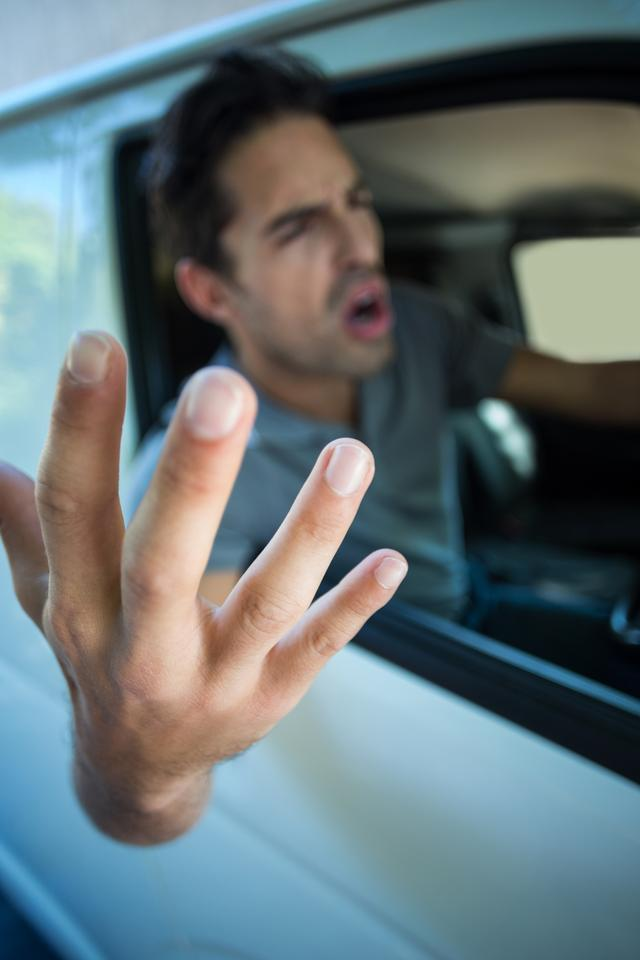 """""""Angry young man gesturing"""" stock image"""