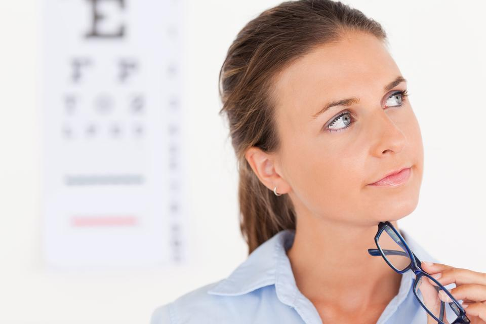 """Thinking eye specialist"" stock image"