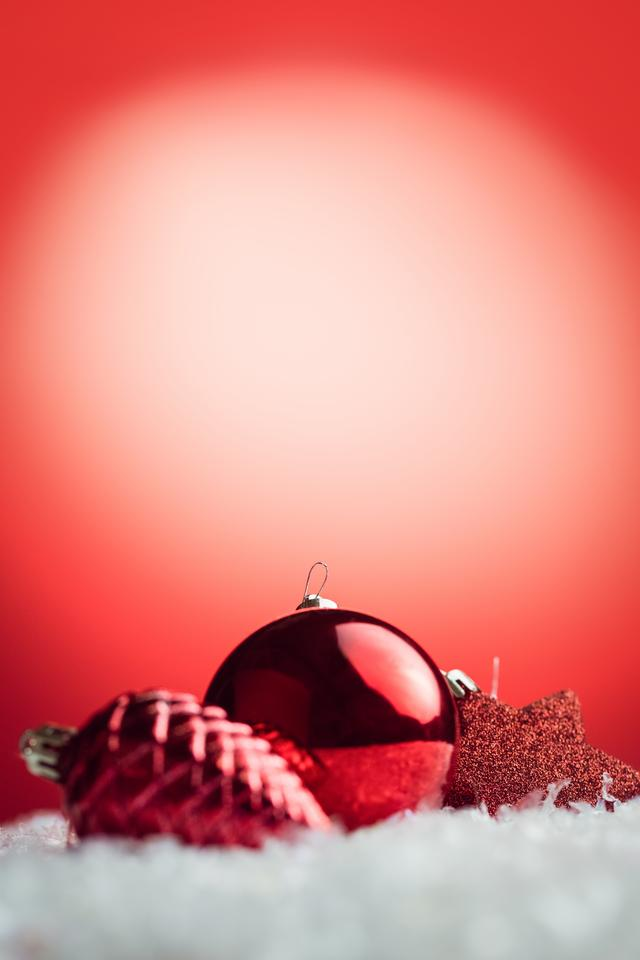 """Composite image of Christmas bauble and decoration"" stock image"
