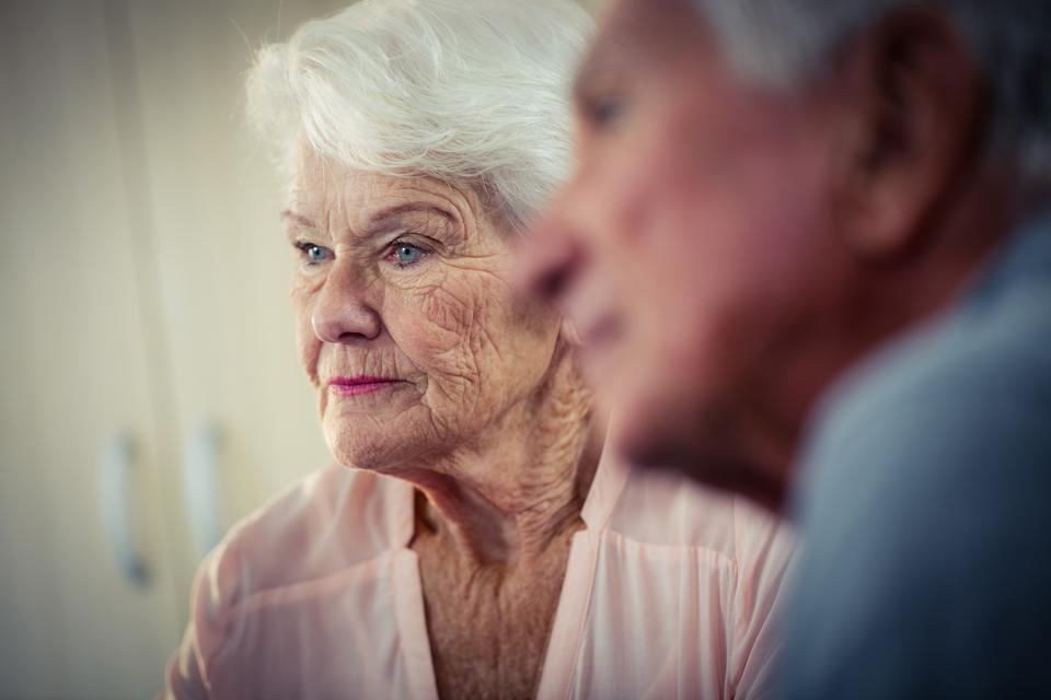 """""""Pensioners interacting"""" stock image"""