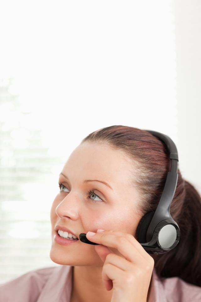 """""""Close up of an operator in office"""" stock image"""