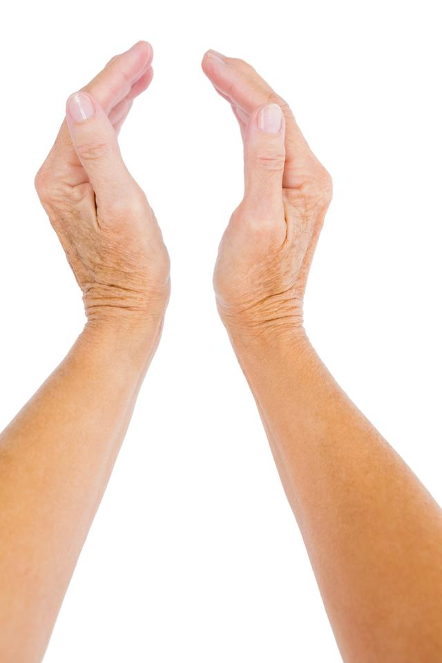 """""""Cropped hand of person"""" stock image"""