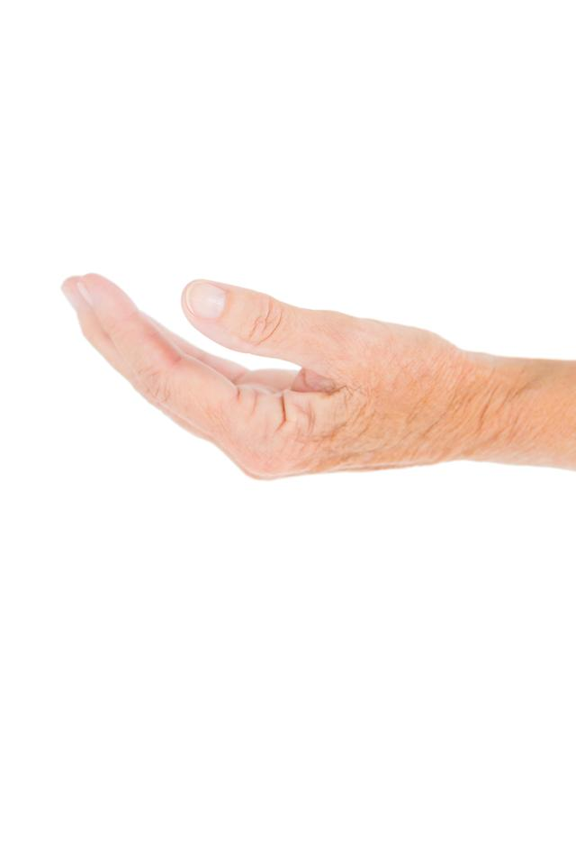 """""""Close-up of wrinkled hand"""" stock image"""