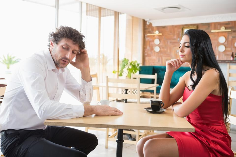 """""""Couple upset with each other"""" stock image"""