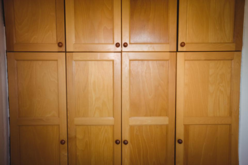 """""""Wooden cupboard cabins"""" stock image"""