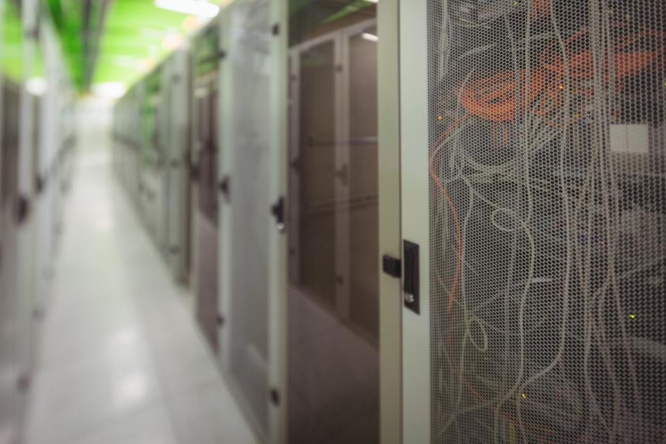 """""""View of rack mounted server"""" stock image"""