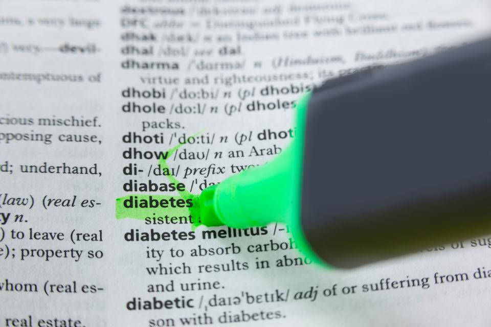 """""""Highlighted word diabetes in dictionary"""" stock image"""