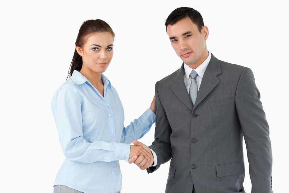 """""""Business partners closing a deal"""" stock image"""