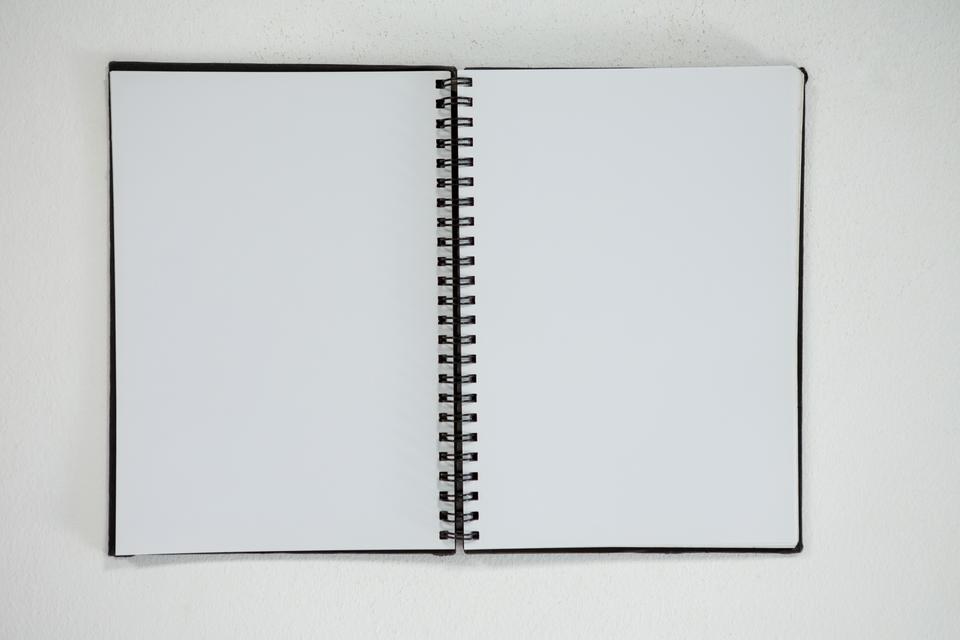 """Close-up of open diary"" stock image"