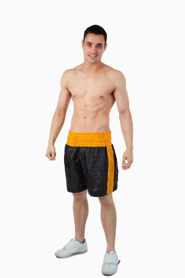 """""""Sporty young male in boxer shorts"""" stock image"""
