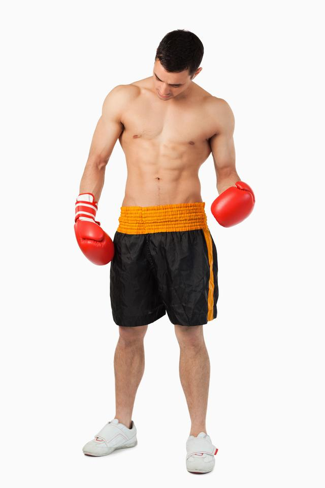 """""""Young ripped boxer"""" stock image"""