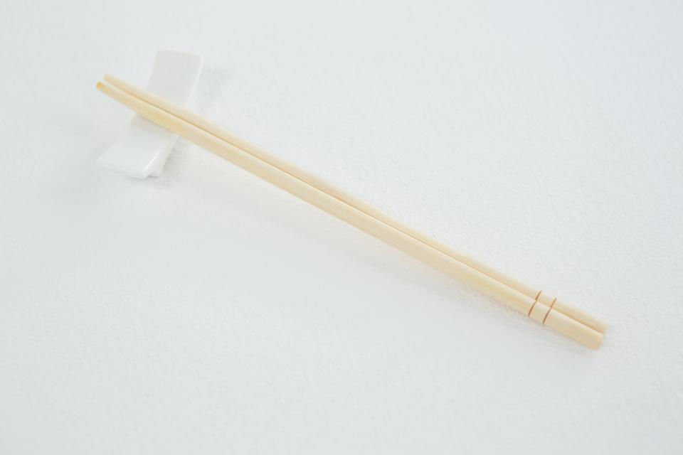 """Chopsticks on a chopstick rest"" stock image"
