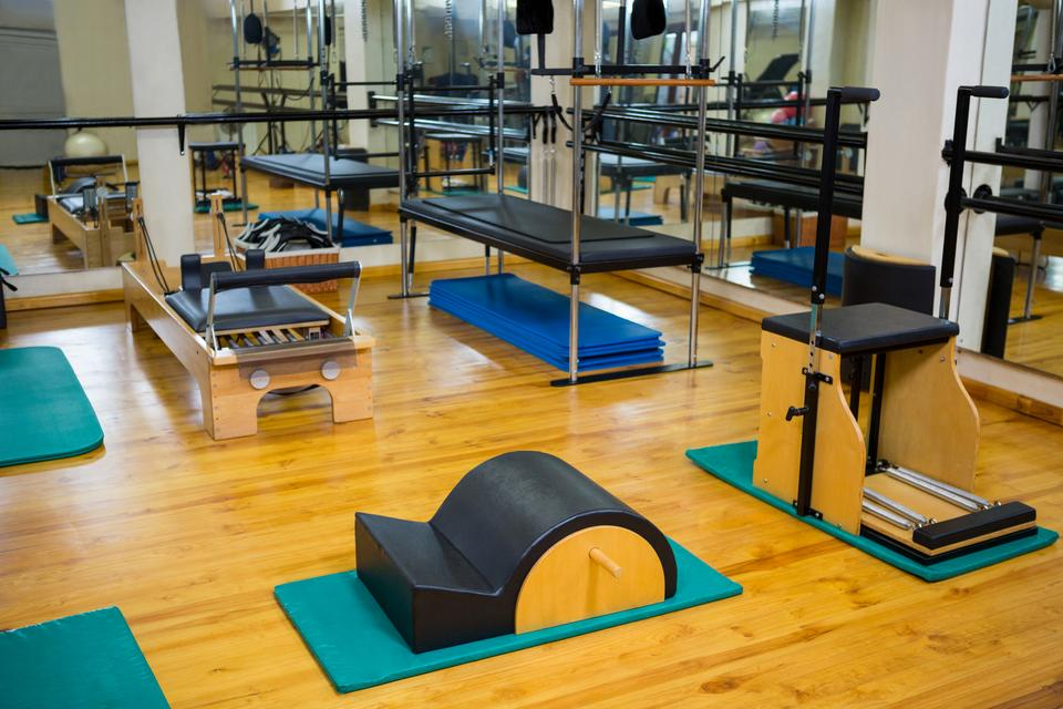 """""""Fitness studio with different gym equipment"""" stock image"""
