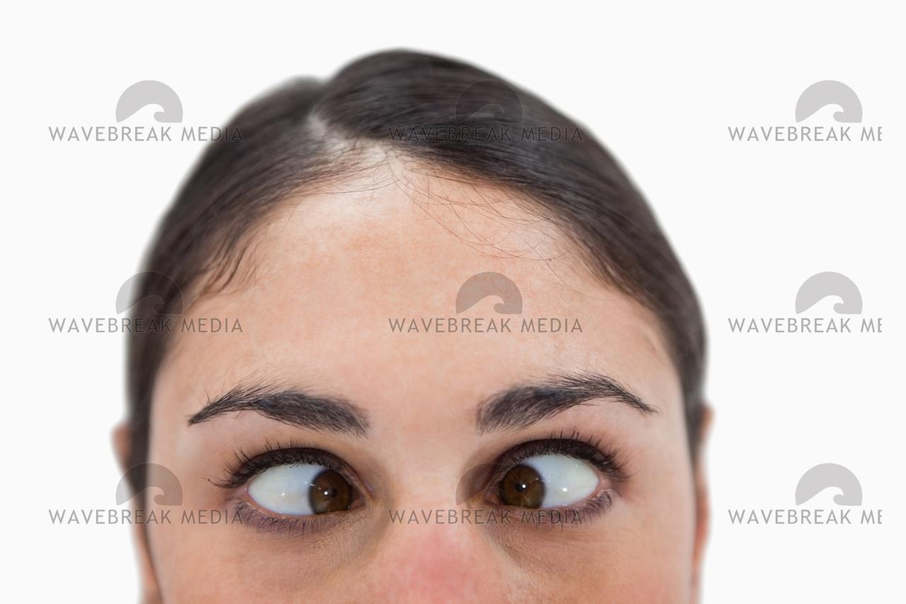 """""""Close up of a woman crosseyed"""" stock image"""