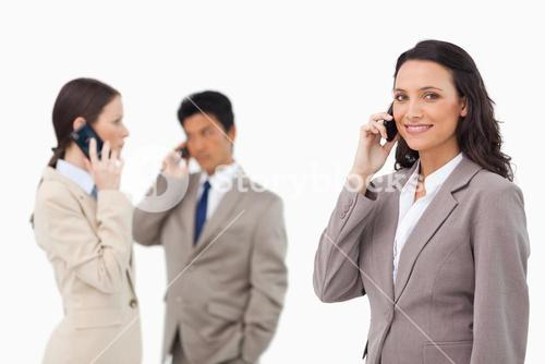 Salespeople on the phone