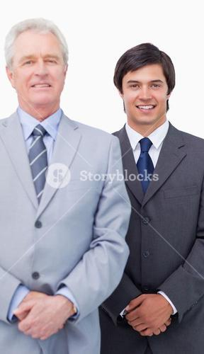 Young salesman with his mentor