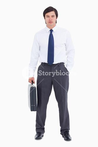 Tradesman with his suitcase
