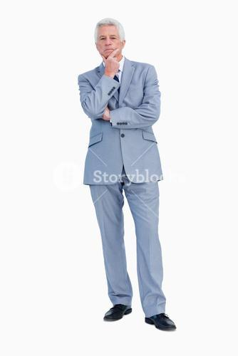 Portrait of a businessman hesitating