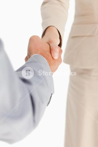 Business people are shaking hands