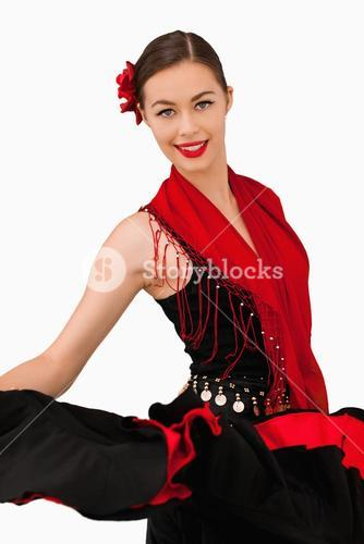 Smiling latin american dancer