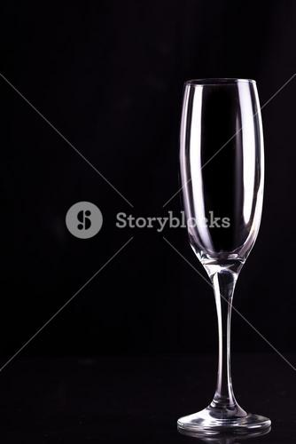 Empty champagne flute