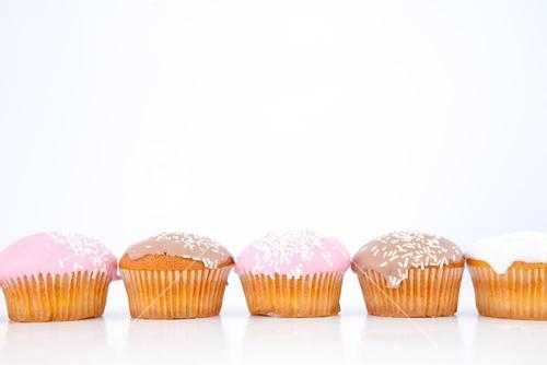 Muffins lined up