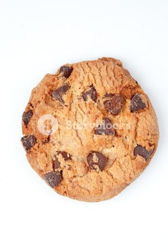 Extreme close up of a cookie