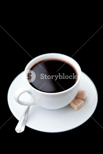 Cup of coffee with brown sugars
