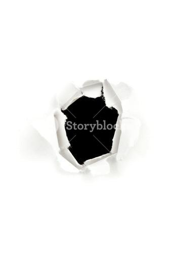 Circle hole in white paper