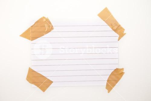 Blank page with adhesive tape