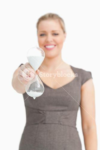 Woman blurred showing a hourglass