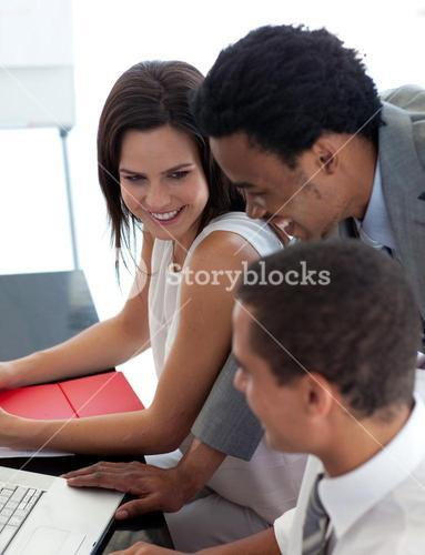 Business people studying a new project