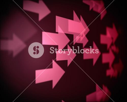 Background of multiple pink arrows