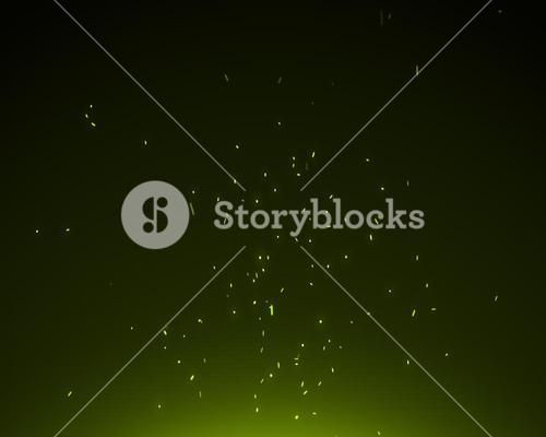 Background of green spangles