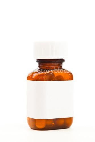Glass bottle of medications