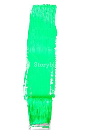 Green vertical line of painting