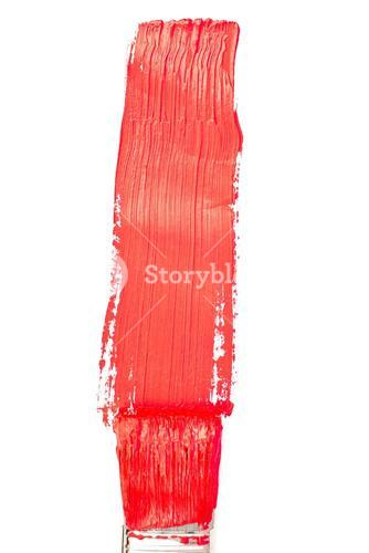 Red vertical line of painting