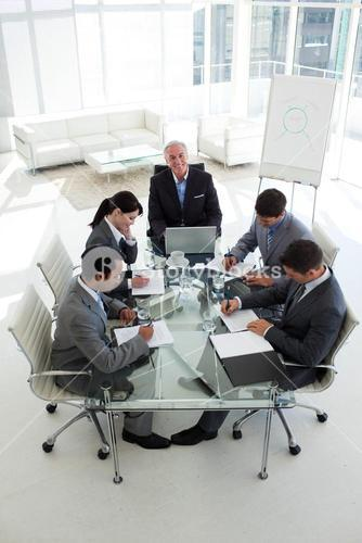 Business people showing diversity in a meeting