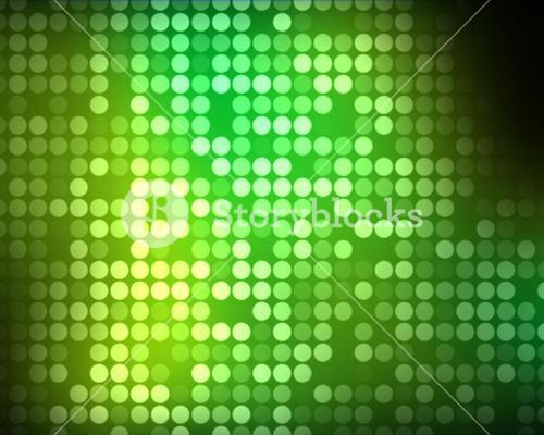 Multiples green and green dots