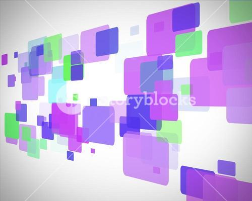 Purple and green rectangles moving