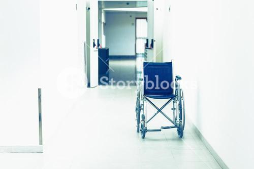 Wheelchair in the corridor