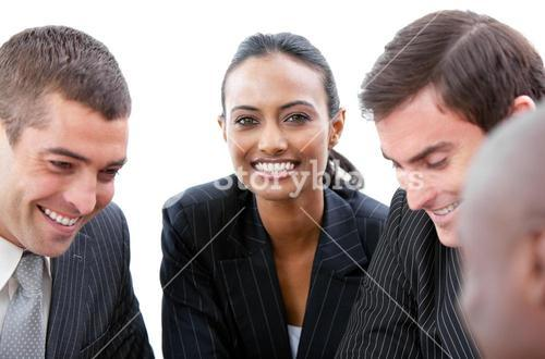 Business team showing diversity in a meeting
