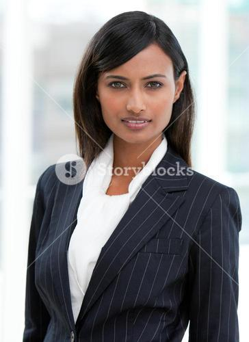 Portrait of a charming businesswoman standing