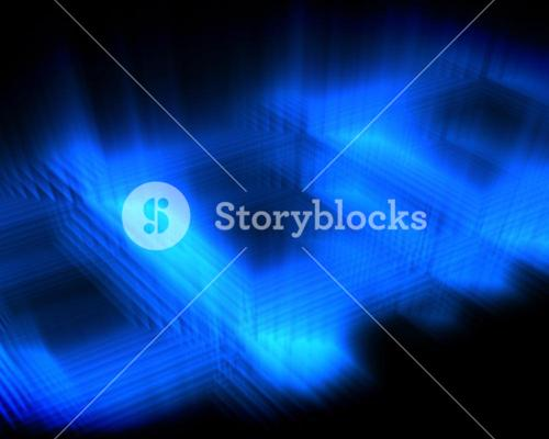 Abstract luminous blue squares