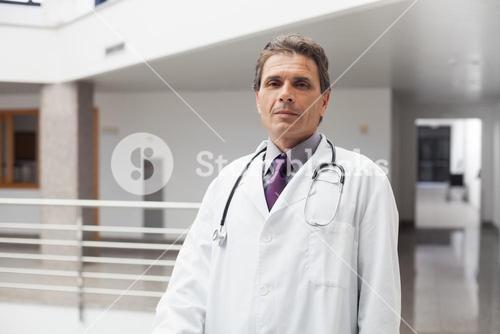 Doctor looking serious