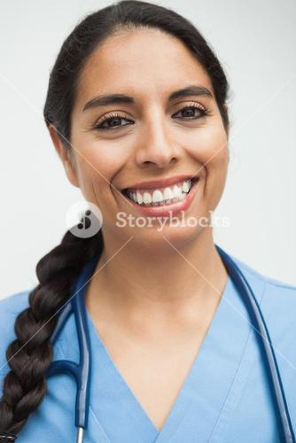 Happy nurse portrait
