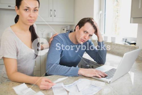 Couple working on the finances